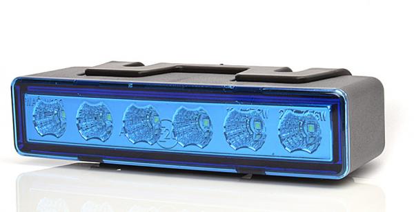 LED Blitzleuchte Blau 10-33V ECE R65