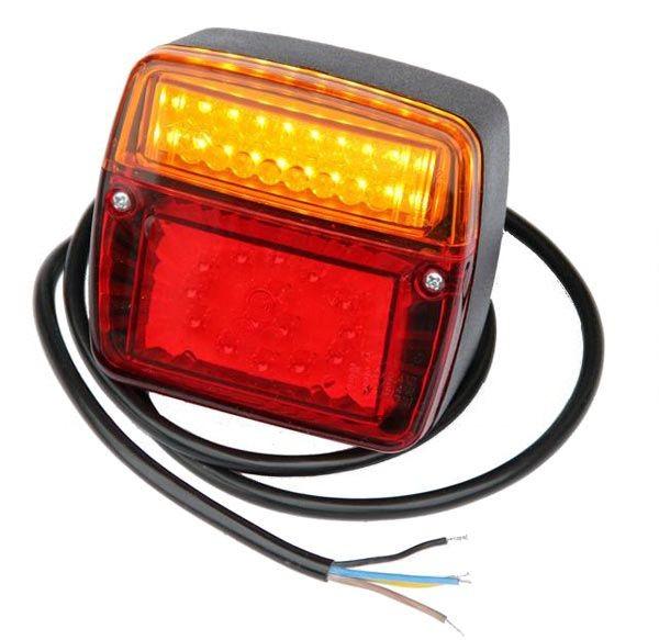 LED 3-funktion Rückleuchte Flach 98x105x35,5mm 12V-24V