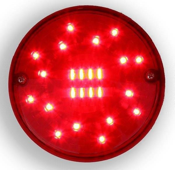 Nebelschlußleuchte 12V-24V LED Rund