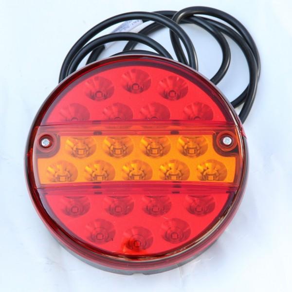 LED 3-funktion Rücklicht Rund 12-24V