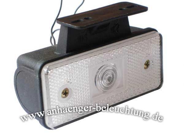 LED Positionsleuchte Weiss mit Winkel