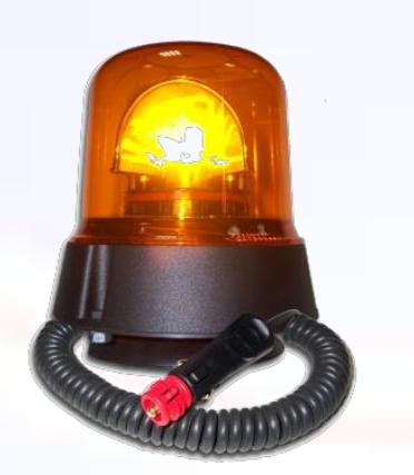 Power LED Rundumkennleuchte Gelb 12V/24 Magnet