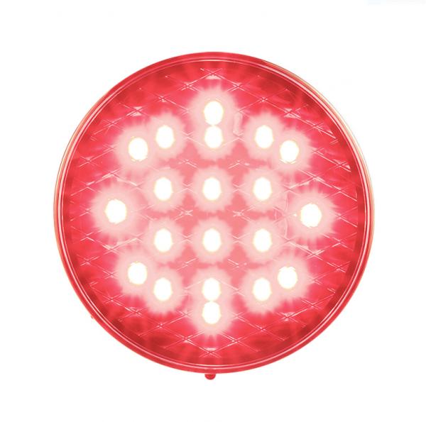 Runde Nebelschlussleuchte - Rote Linse 12-24V