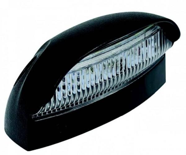 LED Kennzeichenleuchte schwarz 12-24V Dual Voltage