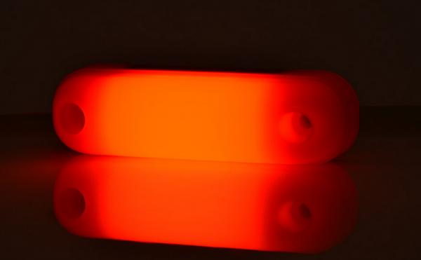 LED Hintere Leuchte Neon-Effekt Rot 12V und 24V