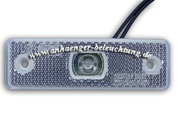 LED Positionsleuchte Weiß: Strahler, Reflektor 12-24Volt