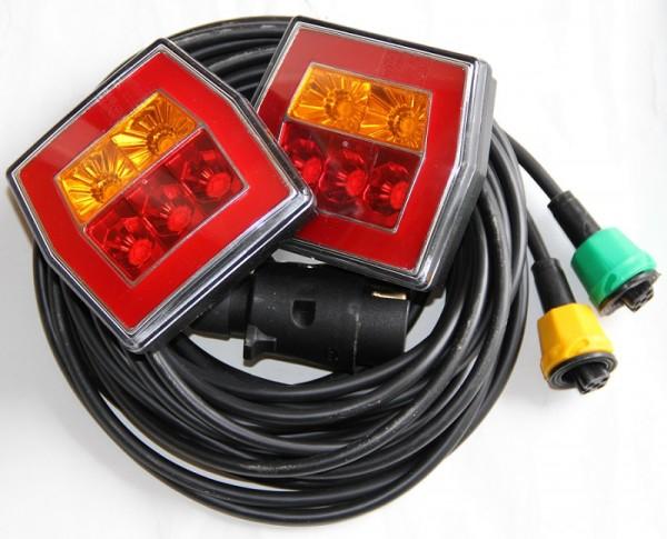 NEON LED 3-Funktion Rückleuchten fertig verkabelt 12-36V