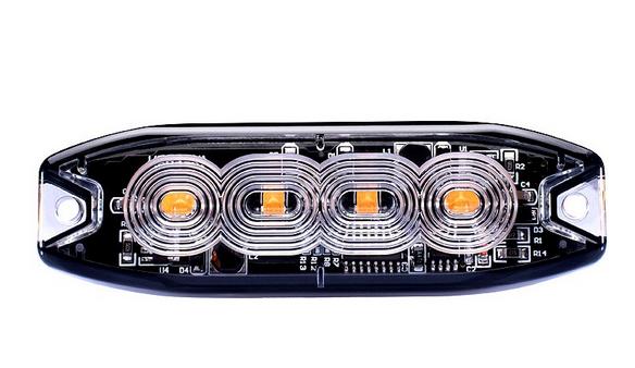 LED Strobo Blitzer, Warnleuchte Gelb12-24V