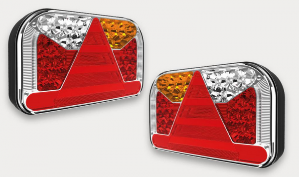 LED NEON Anhänger Rückleuchten 6 Funktion 12-36V Paar