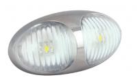 _ LED Markierungsleuchte Weiß, 12V und 24V
