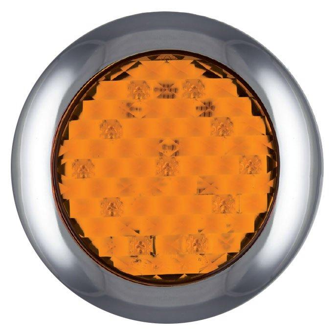 led blinker rund oberfl chenmontage 12 24 v anhaenger. Black Bedroom Furniture Sets. Home Design Ideas