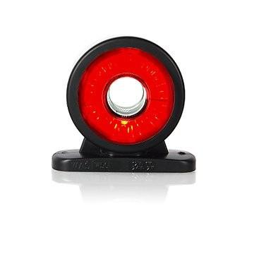 LED Umrissleuchte rot-weiß Lichtleittechnik12V-24V